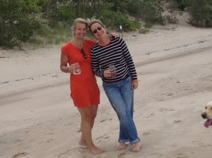Me and Jenn enjoying beach time at her place this past summer.