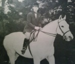 Horses were always my mom's great act of curiosity. Here she is on Noble Savage in 1966.